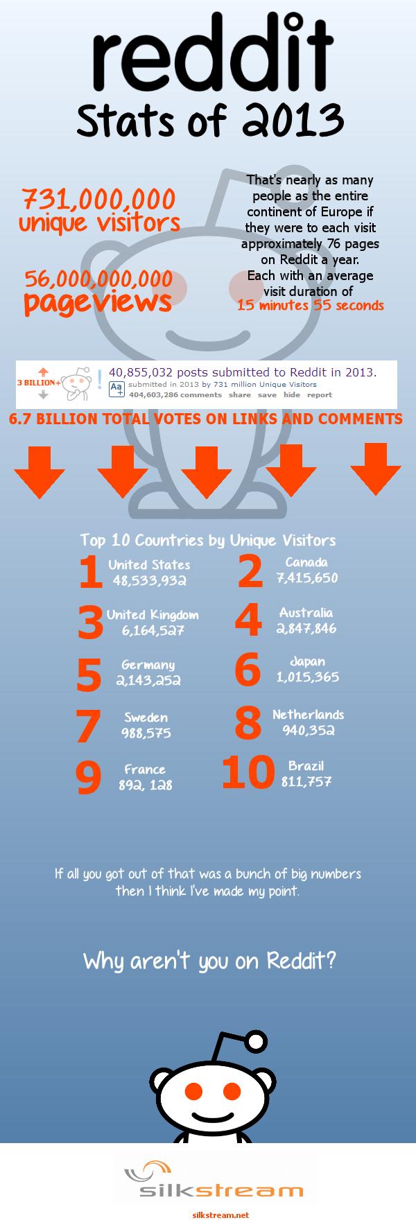 Reddit Statistics 2013 Infographic