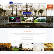 BSW Marquees website design
