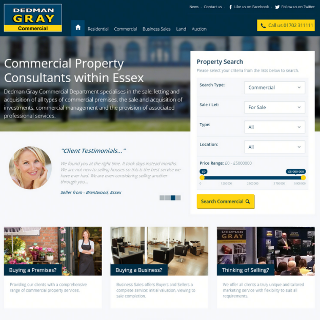 Dedman Gray Website Design