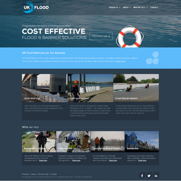 UK Flood Defences Website Design