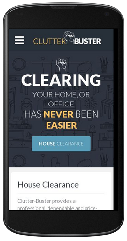 Clutter Buster responsive mobile web design