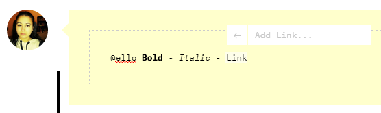 Ello bold italic link