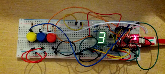 7 Segment Display and Buttons
