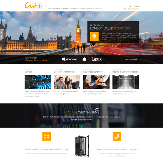 Cubit Tech Web Design
