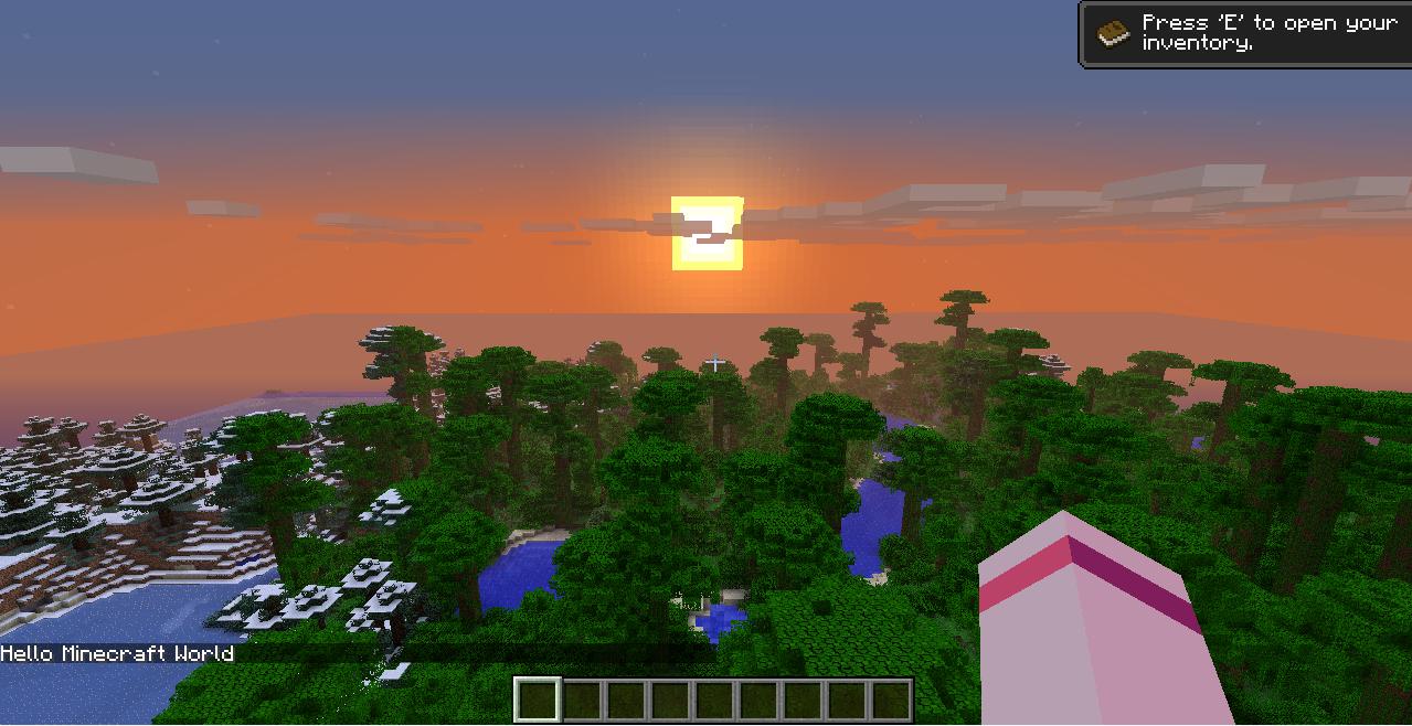 Hello World in Minecraft