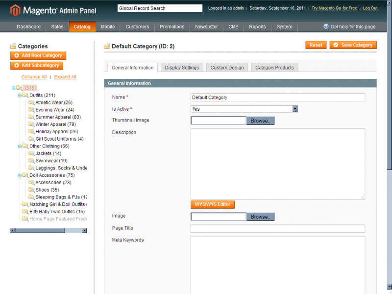 Magento User Interface