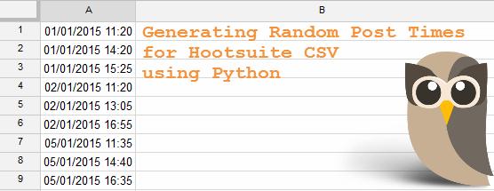 Generating Random Post Times for Hootsuite CSV   Silkstream