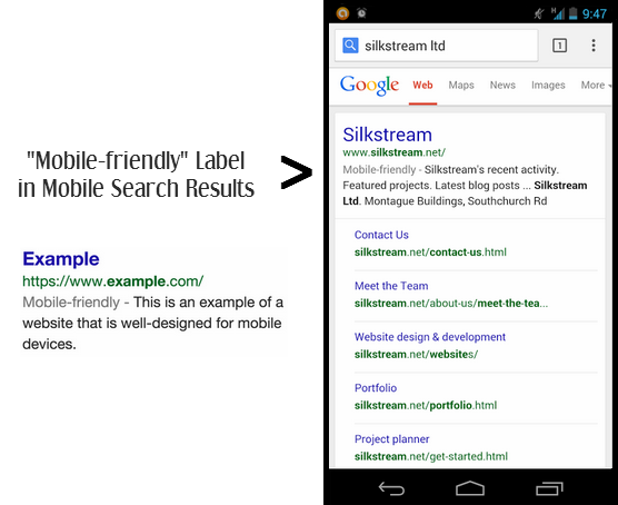 Mobile Friendly Label in Google Search Results