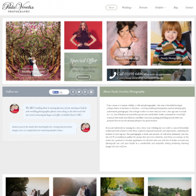 Paula Veverka Homepage Design