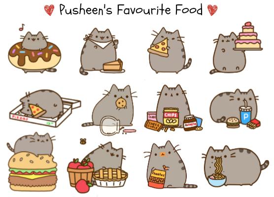 Pusheen's Favourite Food