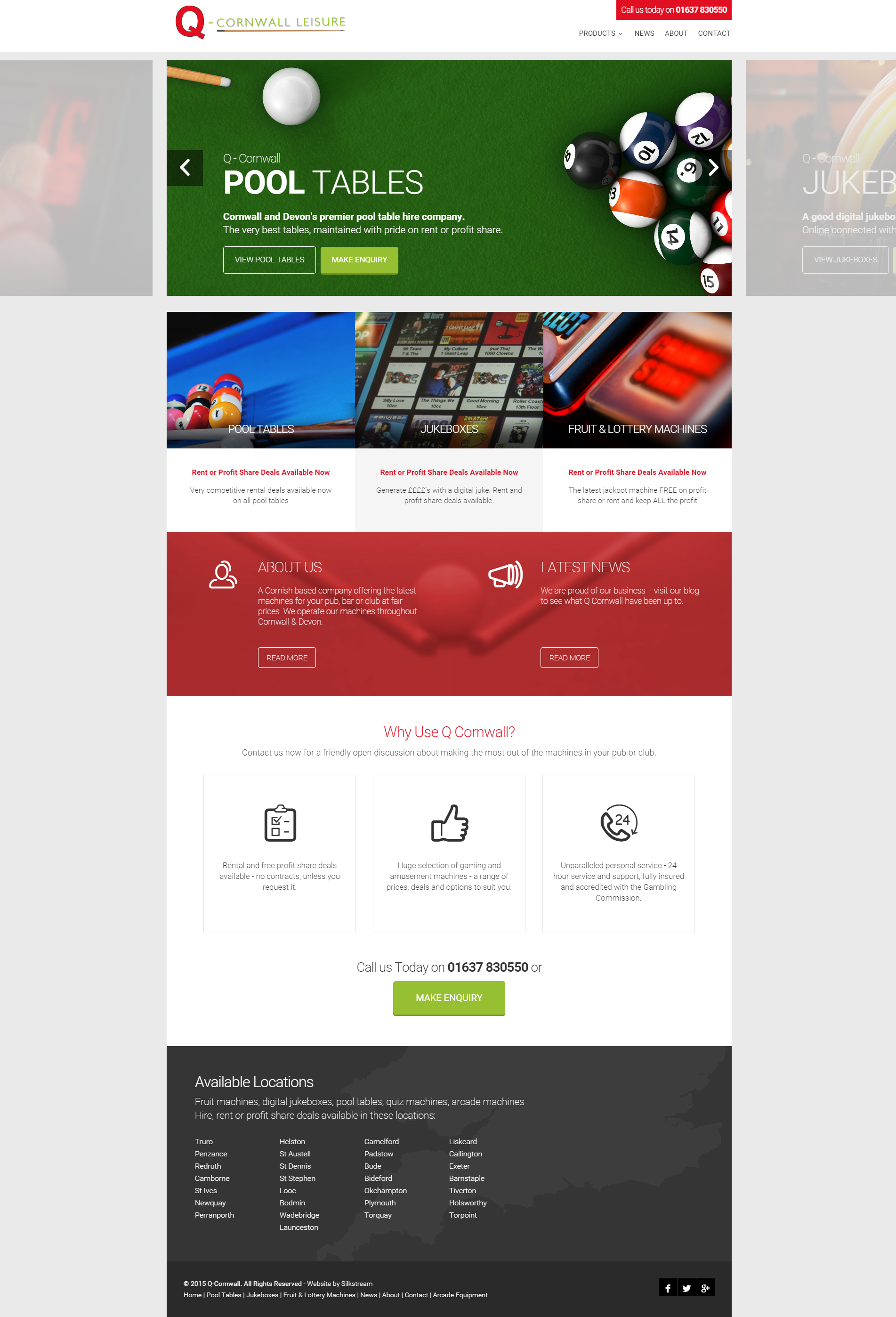 Q-Cornwall's new web design