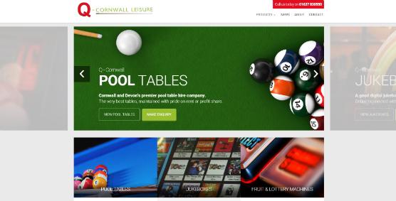 Q-Cornwall homepage slider