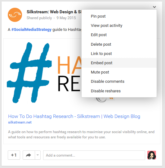 How To Embed Google Plus