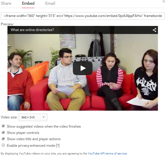 How To Embed YouTube Videos