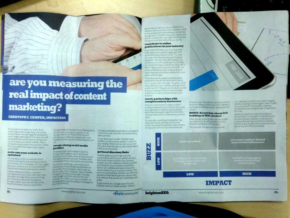 Duplicate Content in BrightonSEO magazine