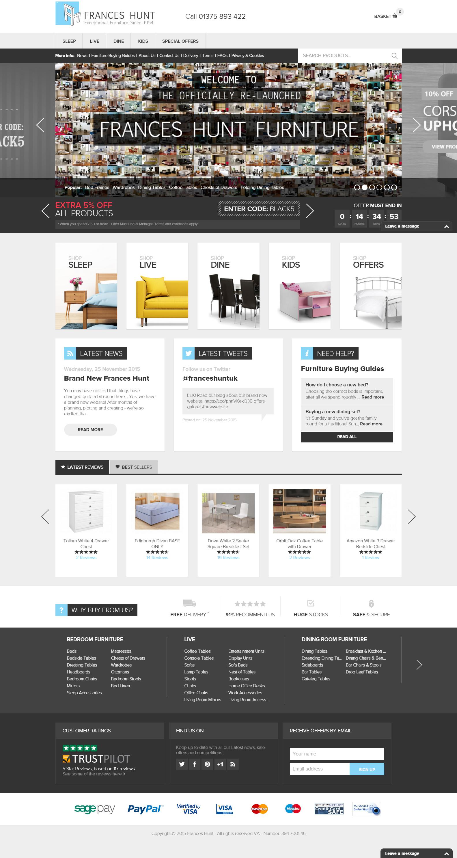 Frances Hunt S Brand New Ecommerce Web Design Silkstream