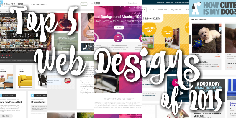 Top 5 Web Designs of 2015