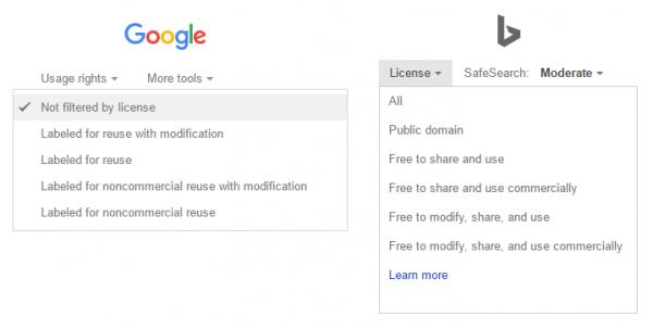Google & Bing Usage Rights