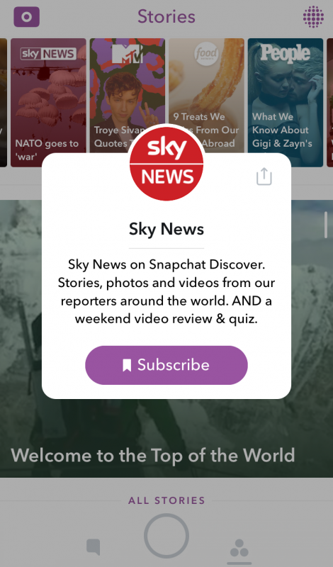 Snapchat Discover Update