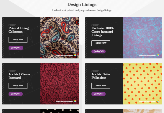 The Lining Company Subcategory Design
