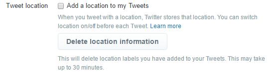 Tweet Location geotagging