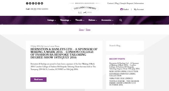 The Lining Company blog