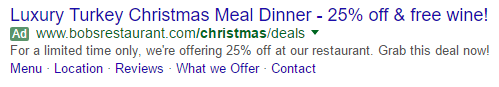 Google Adwords Christmas