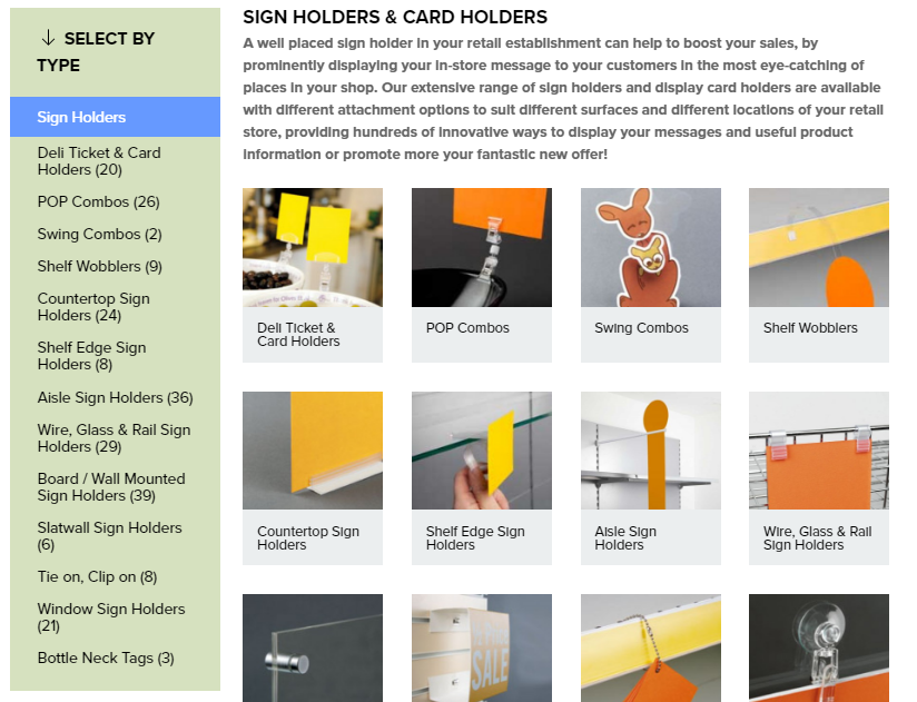 ESP Display Category and Subcategory Design