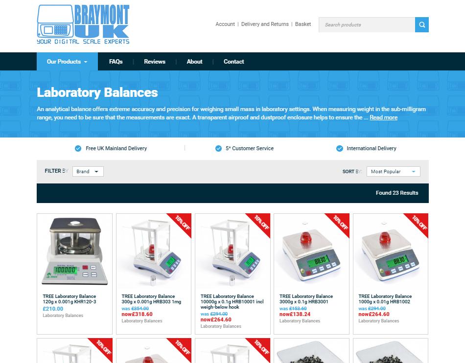 Braymont UK Category Page Design