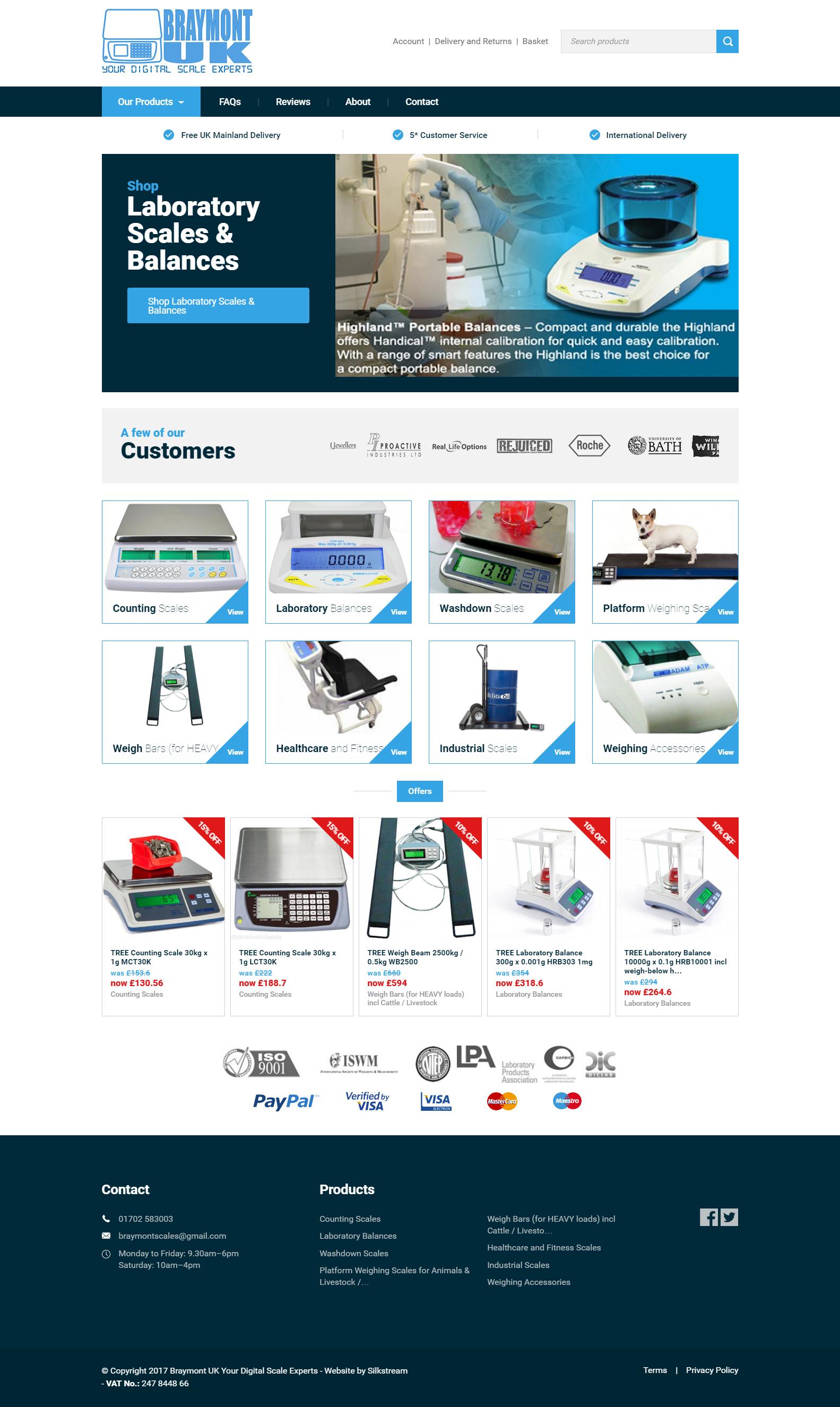 Braymont UK Homepage Design