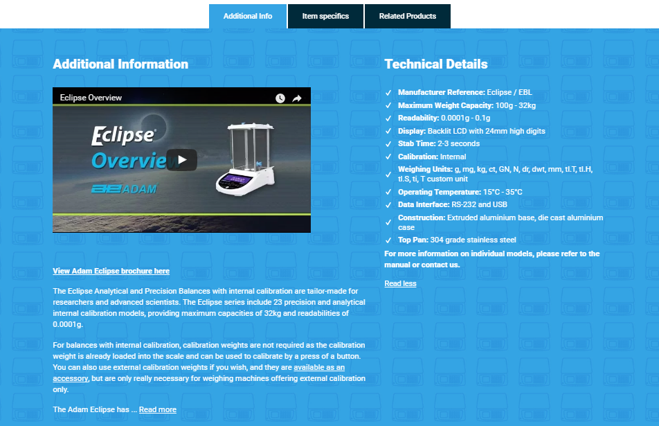 Braymont UK Product Page Info
