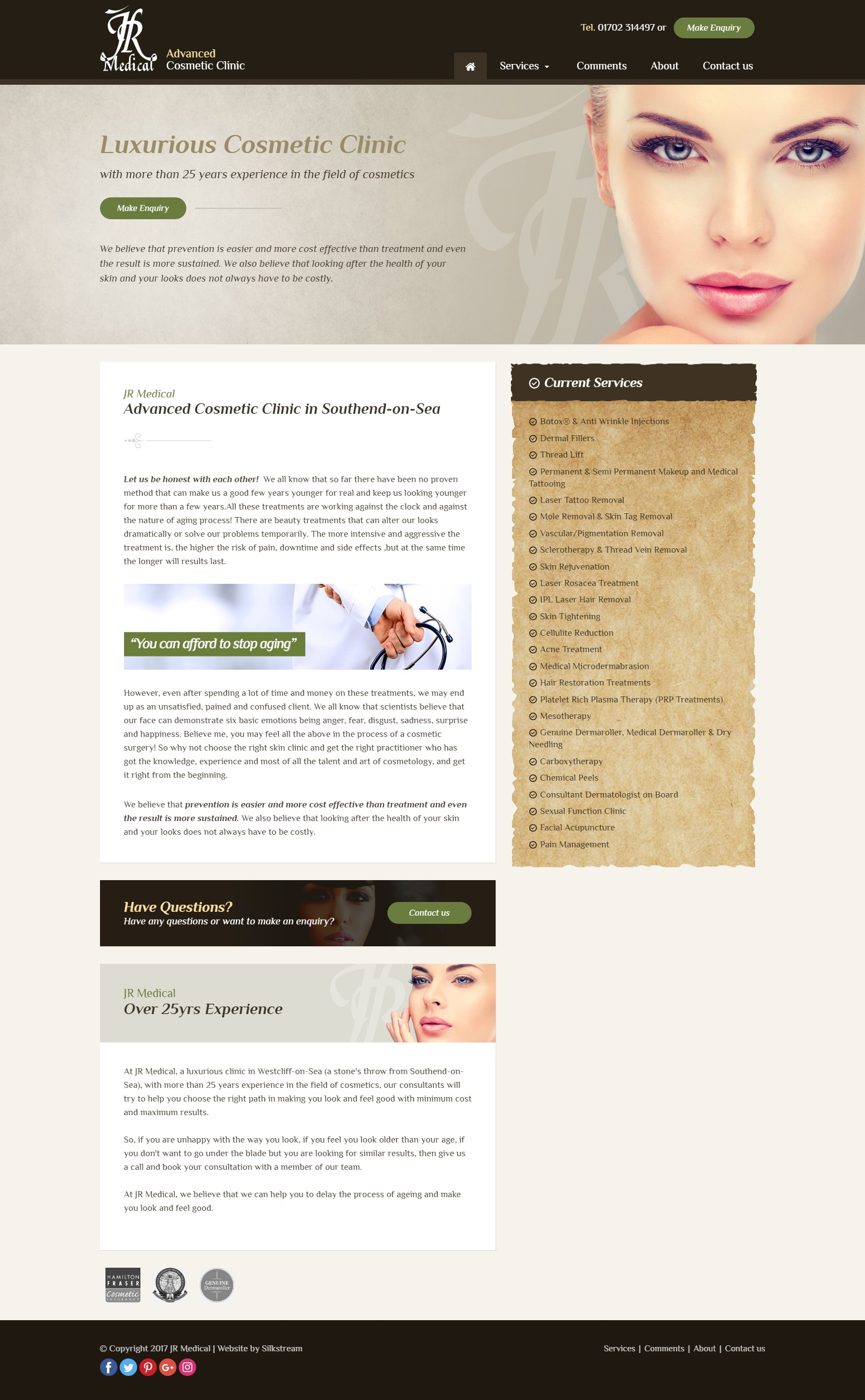 JR Medical Homepage Design