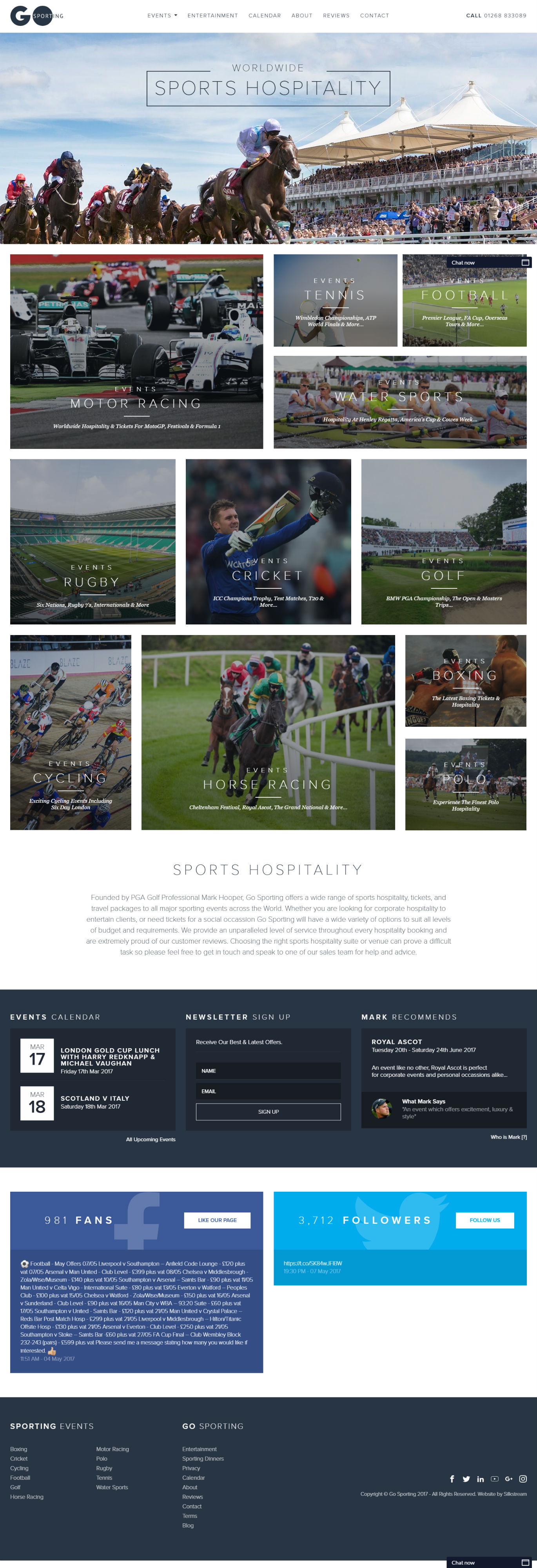 Go Sporting Homepage