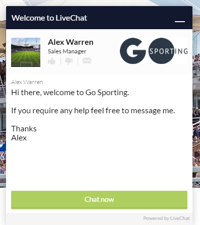 Go Sporting Live Chat
