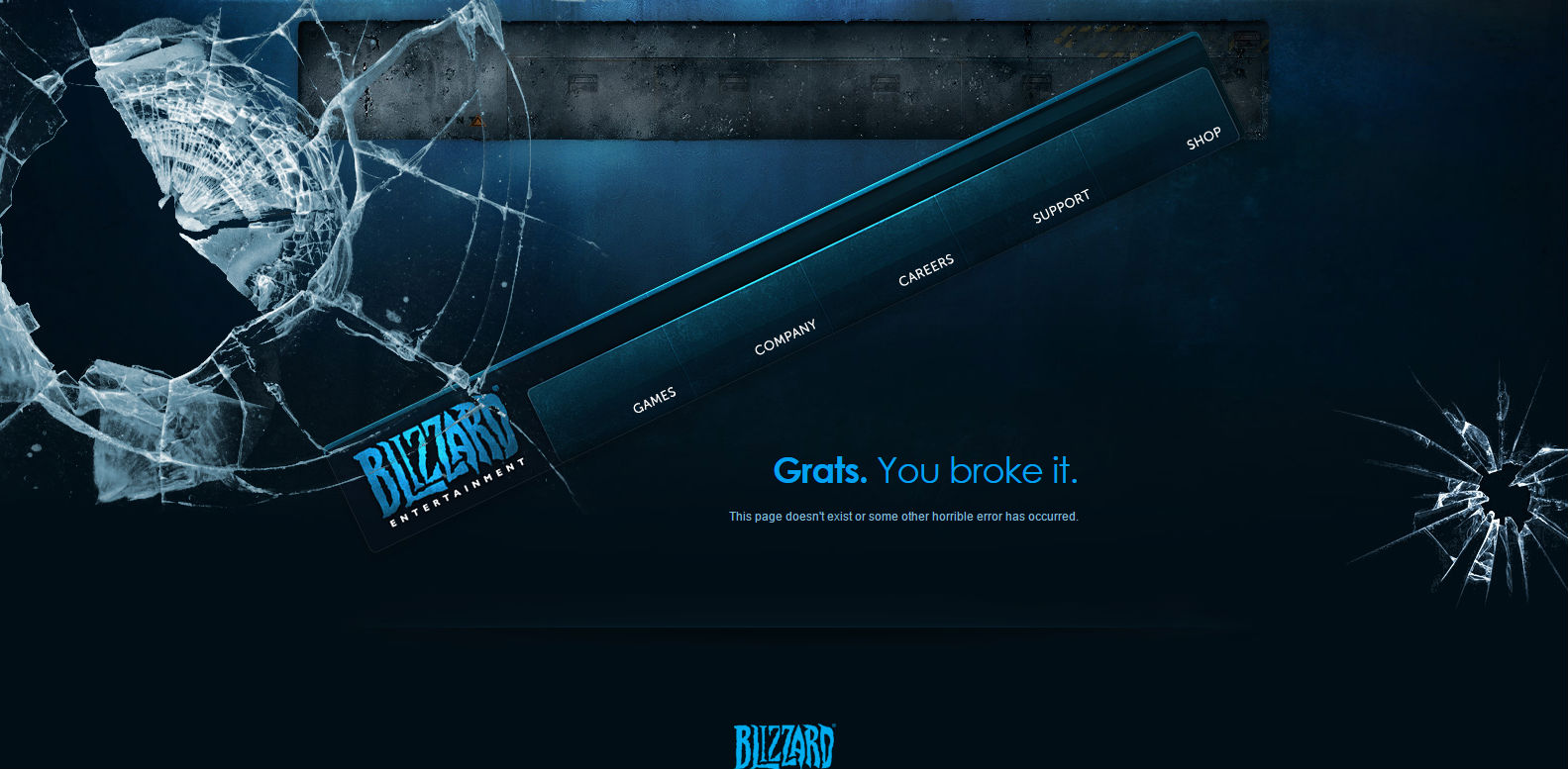 Blizzard 404 page
