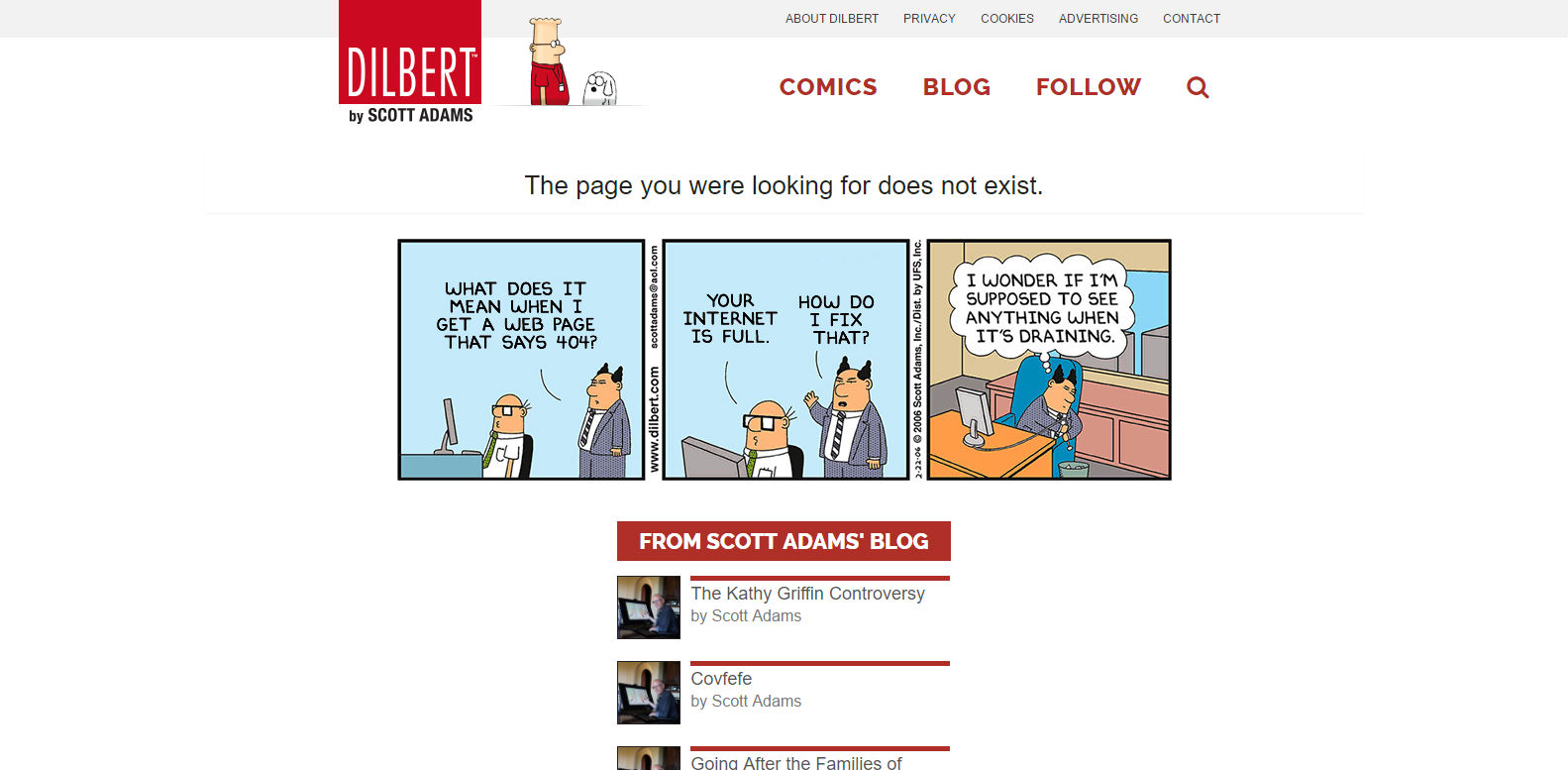 Dilbert 404 page