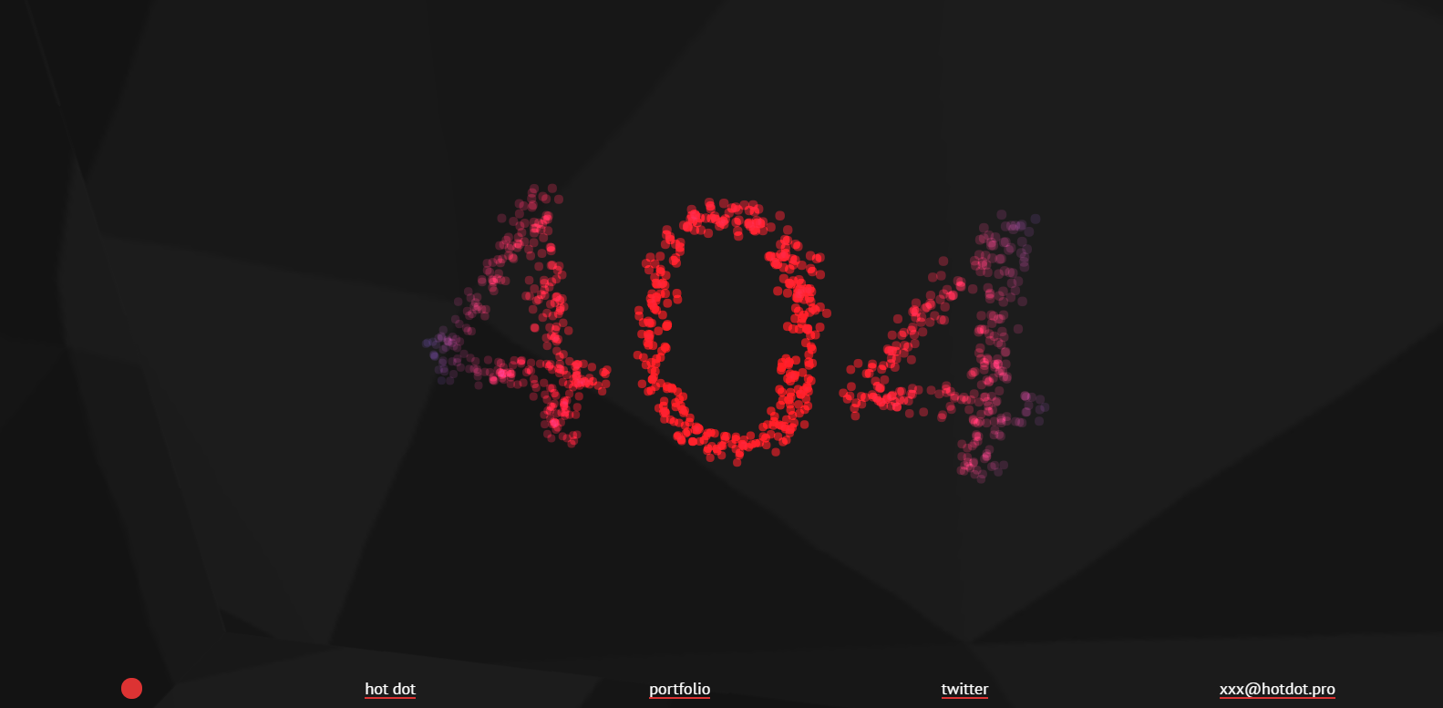 Hot Dot's 404 Page