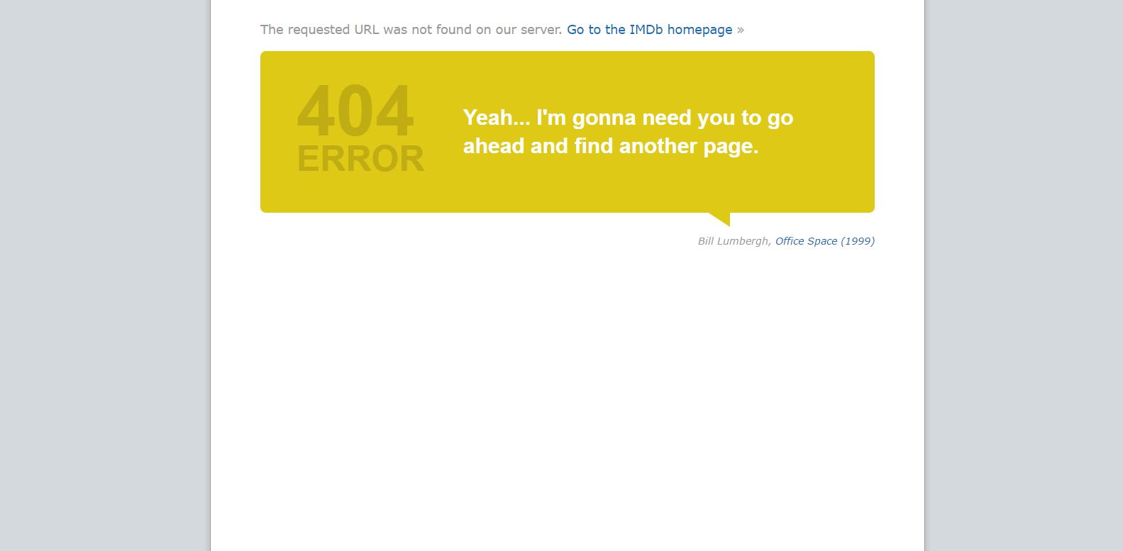 IMDB's 404 page