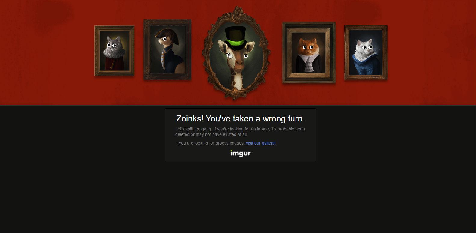 Imgur 404 page
