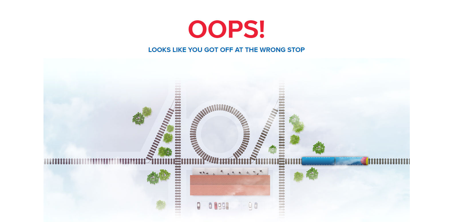 South West Trains 404 page