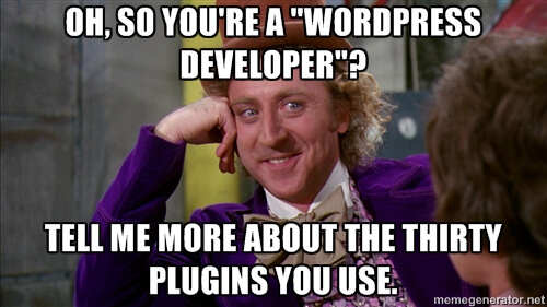 Wordpress Developer Meme