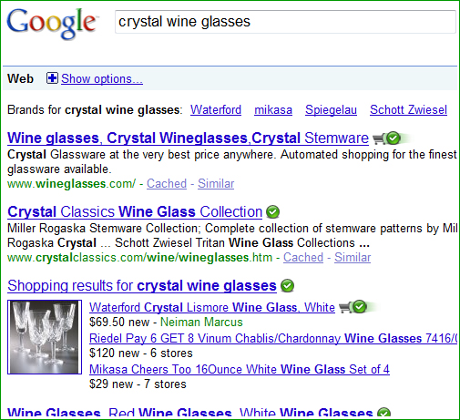 brand example crystal wine glass