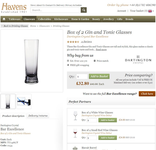 havens new gin and tonic glasses
